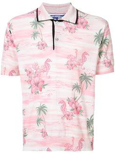 рубашка-поло с тропическим принтом Junya Watanabe Comme Des Garçons