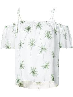 блуза со спущенными рукавами с пальмами Milly