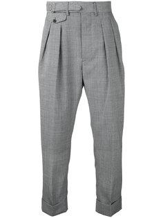 брюки с заниженным шаговым швом Wooster + Lardini