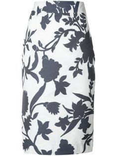 юбка с высокой талией с цветочным принтом Milly