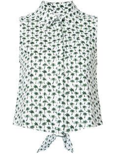 рубашка с пальмовым принтом Milly