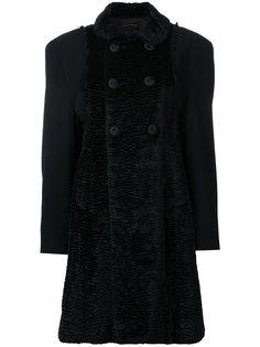 пальто с деталями из искусственного меха Comme Des Garçons Vintage