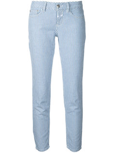 полосатые укороченные джинсы Closed