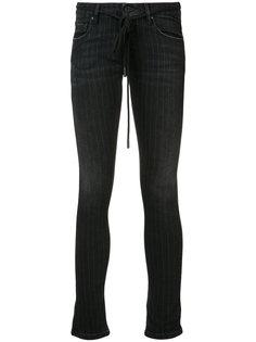 джинсы кроя скинни в полоску Off-White