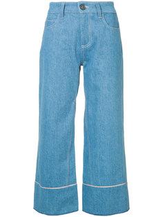 широкие укороченные джинсы Vionnet
