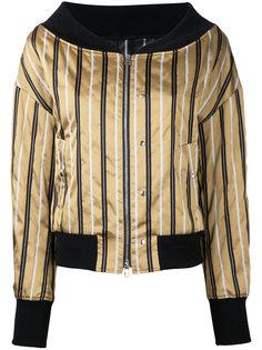 полосатая куртка-бомбер с вырезом-лодочкой  Le Ciel Bleu