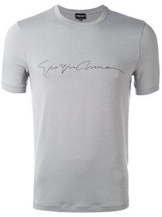 футболка с принтом логотипа Giorgio Armani