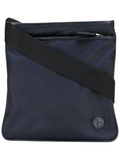 сумка-почтальонка с логотипом Giorgio Armani