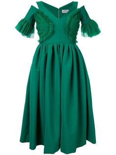 расклешенное платье с вырезными деталями Preen By Thornton Bregazzi