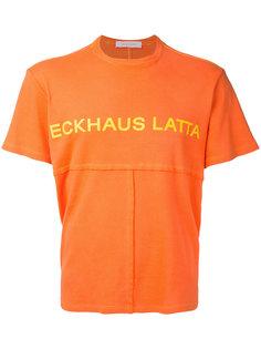футболка лоскутного кроя с принтом-логотипом Eckhaus Latta