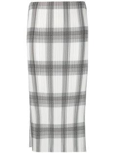 плиссированная юбка в клетку Helmut Lang