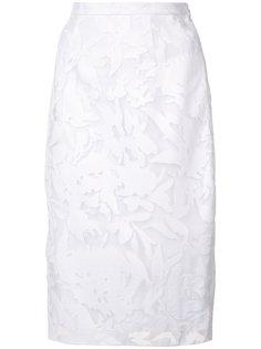 юбка с цветочной вышивкой Milly
