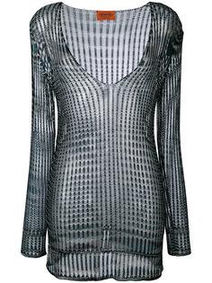 блузка с V-образным вырезом Missoni