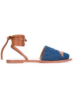 сандалии с завязками на щиколотке Red Valentino