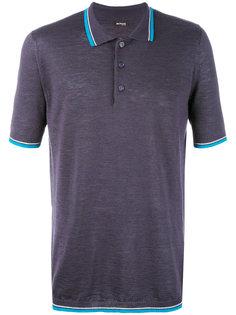футболка-поло с контрастной отделкой Kiton