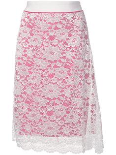 юбка с кружевным декором Paco Rabanne