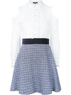 комбинированное платье с открытыми плечами Loveless