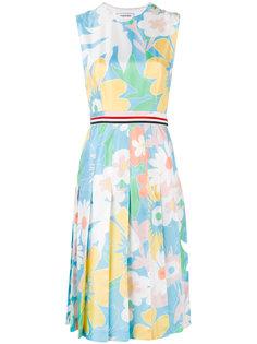 платье с принтом и плиссировкой Thom Browne
