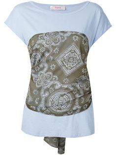 футболка с орнаментом и завязками на спине Jucca