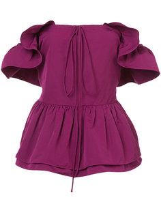 блузка с пышной баской Rochas