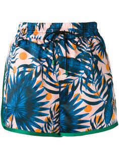спортивные шорты с растительным принтом Steve J & Yoni P