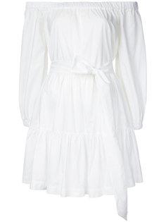 платье с поясом и открытыми плечами  Erika Cavallini