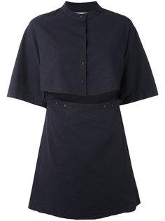 платье с вырезной деталью Eckhaus Latta