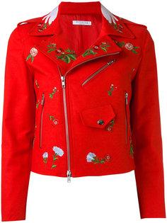 байкерская куртка с вышивками Vivetta