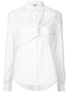 рубашка с узлом спереди MSGM