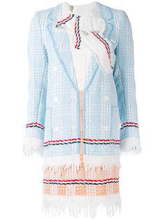 расшитое платье с бахромой Thom Browne