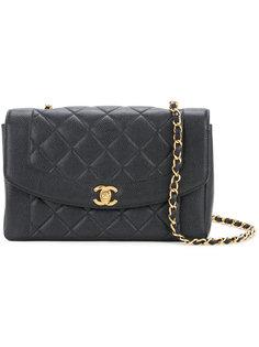 стеганая сумка через плечо на цепочке с логотипом СС Chanel Vintage