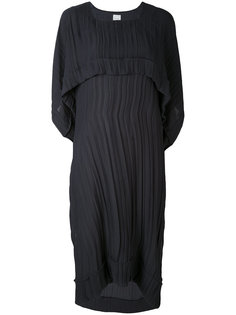 плиссированное платье с драпировками Paul Smith