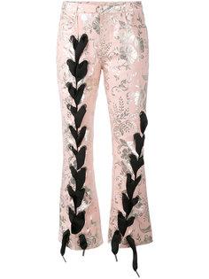 жаккардовые брюки со шнуровкой Marquesalmeida