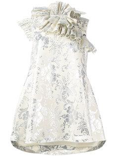 жаккардовое платье с рюшами  Marquesalmeida