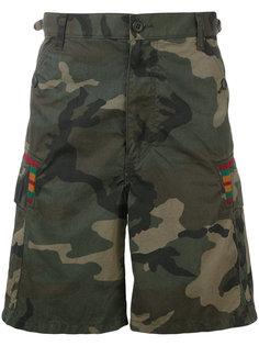 шорты с камуфляжным принтом Facetasm