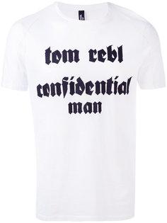 футболка с принтом-логотипом Tom Rebl