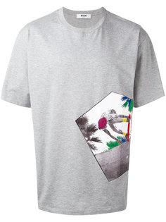 футболка с фотографией MSGM
