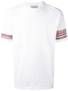 футболка с вышивкой на рукавах Casely-Hayford