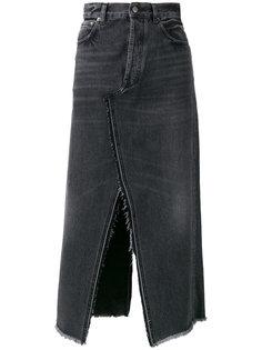 джинсовая юбка в винтажном стиле Golden Goose Deluxe Brand