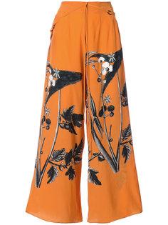 брюки-палаццо с принтом Osklen