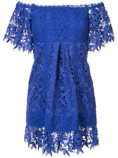 платье на одно плечо с вышивкой  Nicole Miller