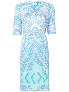 платье с V-образным вырезом с принтом Leonard