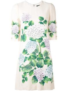 платье-шифт с цветочным узором Dolce & Gabbana