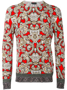 свитер с узором пейсли Alexander McQueen