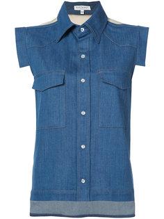 джинсовая рубашка без рукавов Vionnet