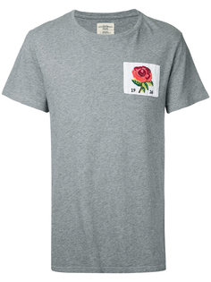 футболка с нашивкой розы Kent & Curwen