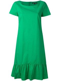 расклешенное платье с присборенным подолом Luisa Cerano