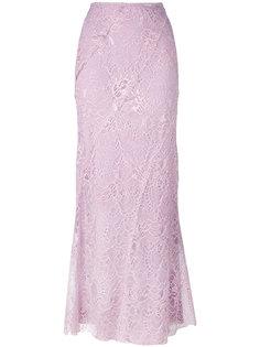 юбка с вышивкой Alberta Ferretti