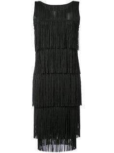 платье шифт с бахромой Pleats Please By Issey Miyake