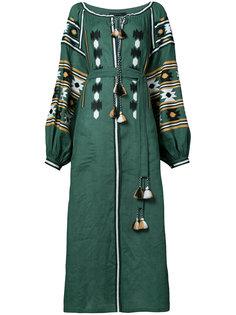 длинное платье с вышивкой Vita Kin